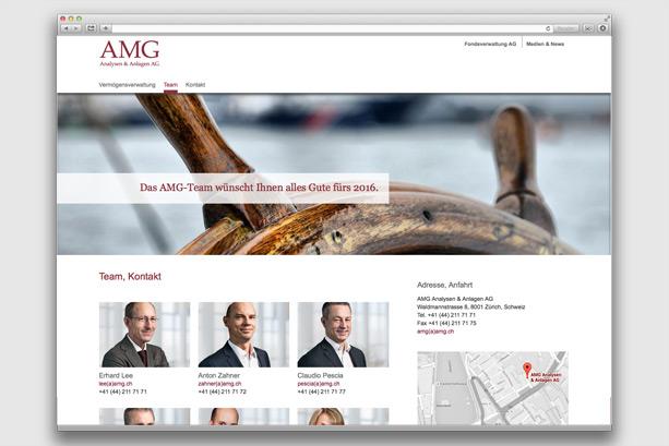2016 | Übersichtseite AMG Analysen & Anlagen AG
