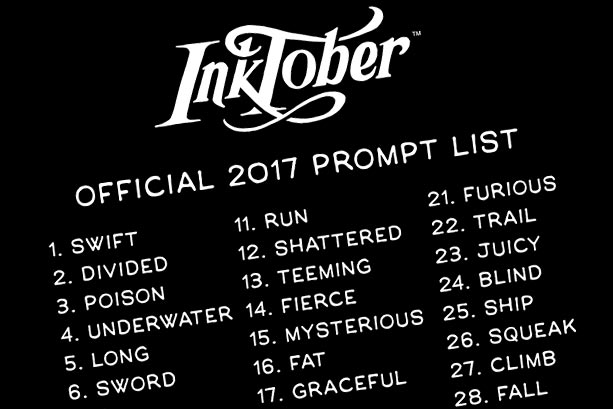 inktober-promptlist