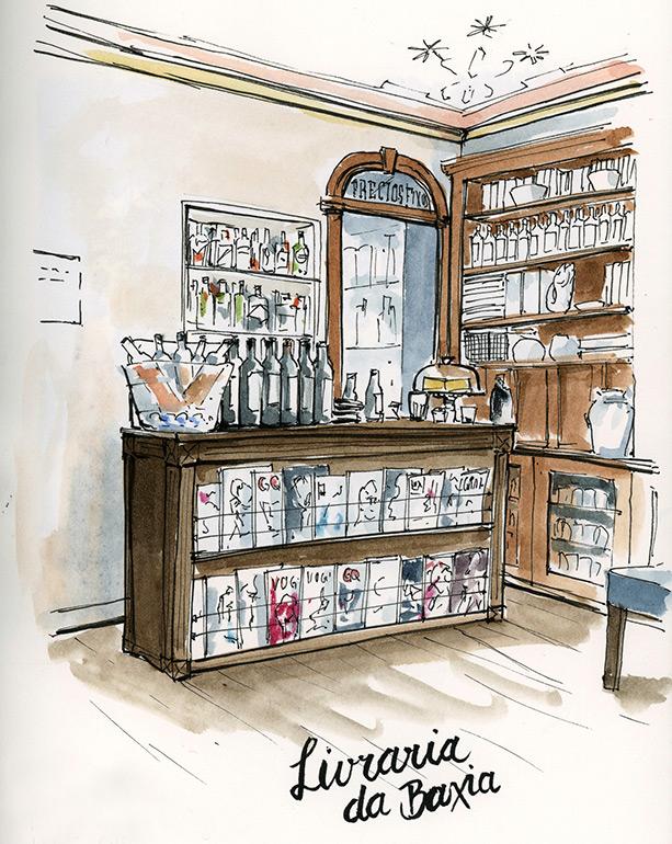 eine ehemalige Buchhandlung ist nun ein Café