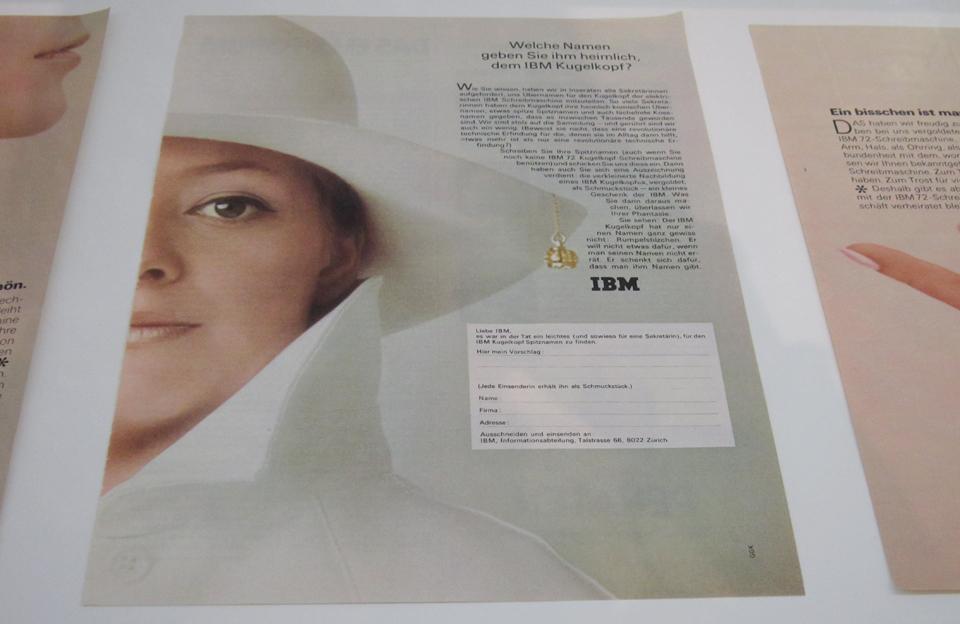 Inserateserie von IBM aus dem Jahr 1968