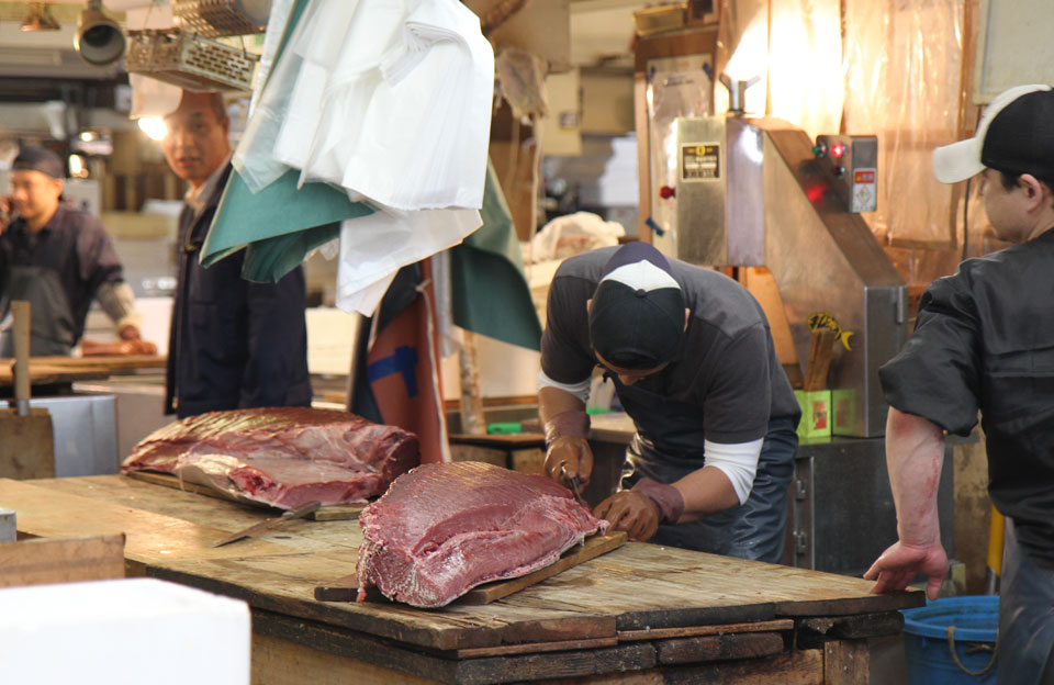 Tsukiji Fischmarkt |  Unser Frühstück um 7 Uhr