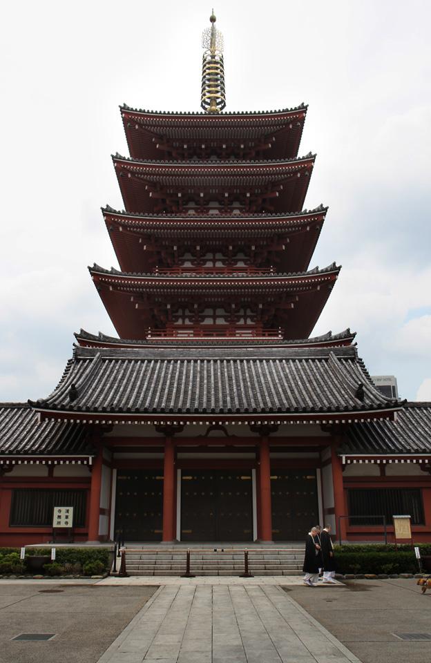 Senso-ji-Schrein   5-stöckige Pagode (53 m)