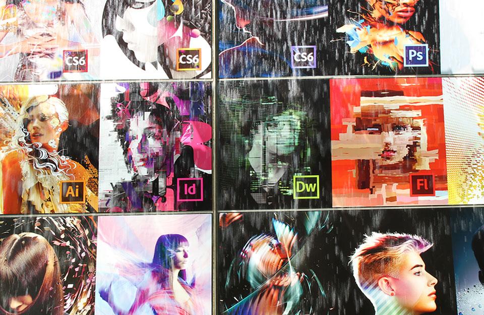 Roppongi | Werbung (Brunnen-Rückwand) von Adobe CS 6